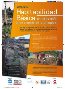 2015 Carteles Seminario Habitabilidad Sevilla
