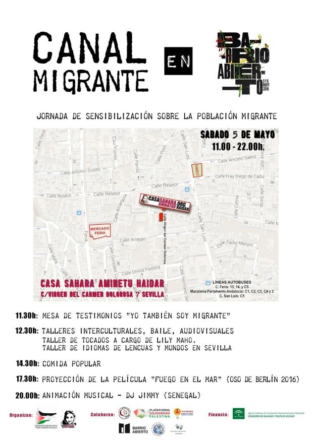 Cartel Canal Migrante