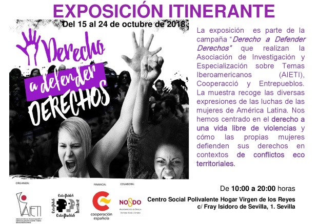 Cartel Exposición Genérico-Morado